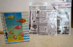 Fishy Birthday card - With stamp sets