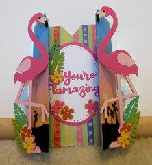 Blue Flamingo Card