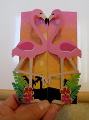 Pink Flamingo card - front