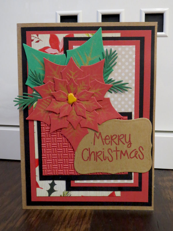 Poinsettia Card 1