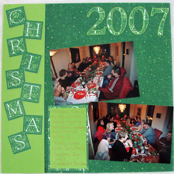First Page of Christmas Day 2007 Album