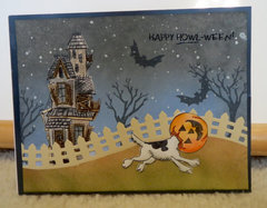Haunted House with Dog Card 2