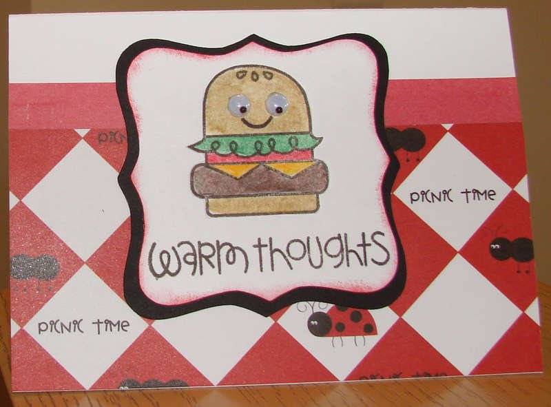 Hamburger Card for Operation Write Home