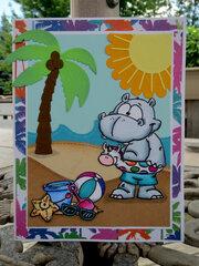 Hippo Beach Card