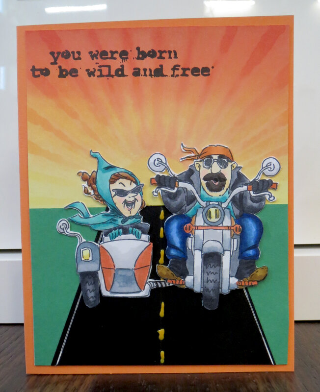 Motorcycle Card for cousin