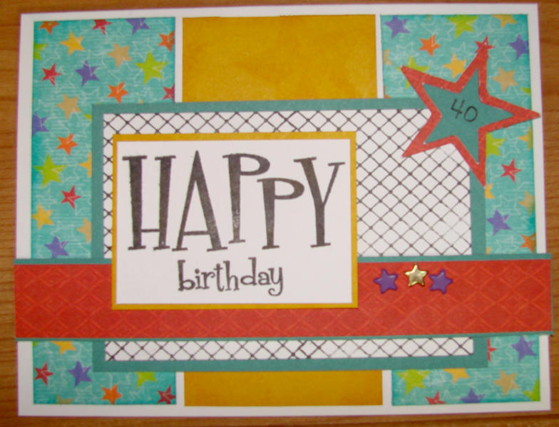 Hubby's Birthday Card Feb.