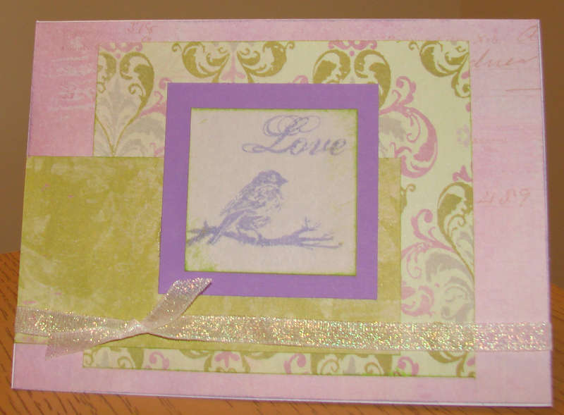 Love card with Bird for Operation Write Home