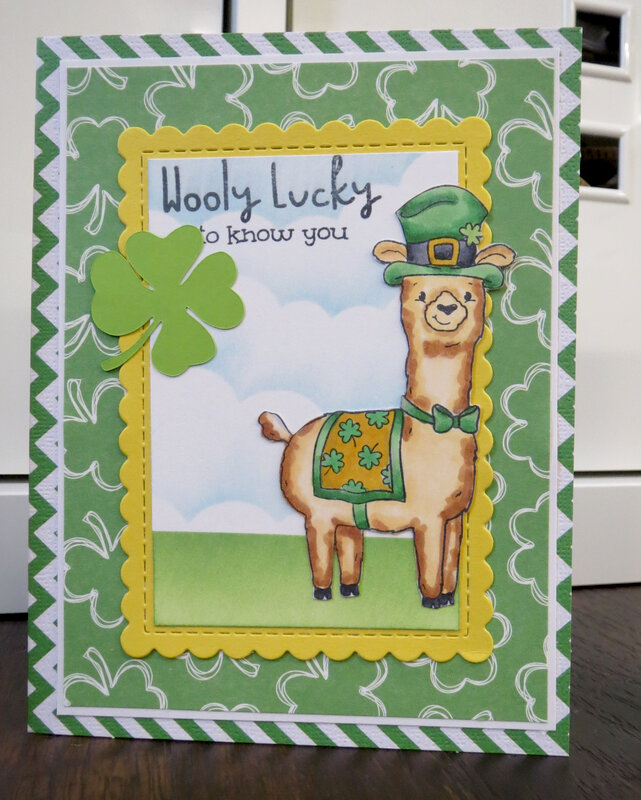 Llama St. Patrick's Day card 1
