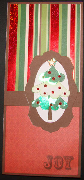 Christmas Tree Card with stripes 2011