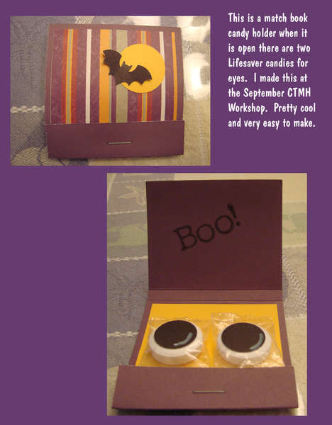 Matchbook candy holder (Halloween)