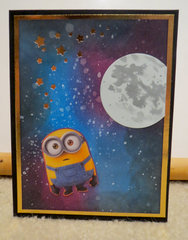 Minion card with moon