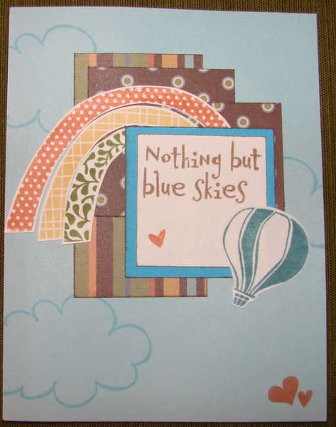 Nothing But Blue Skies - OWH card