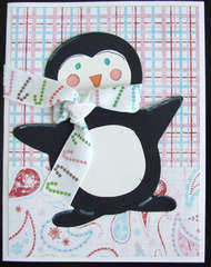 Penguin with Scarf and Paisley