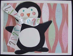 Penguin with Scarf Card 1