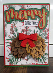 Gold Pinecone Christmas Card 1