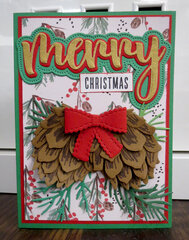 Gold Pinecone Christmas Card 2