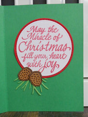 Gold Pinecone Christmas Card 1 - inside