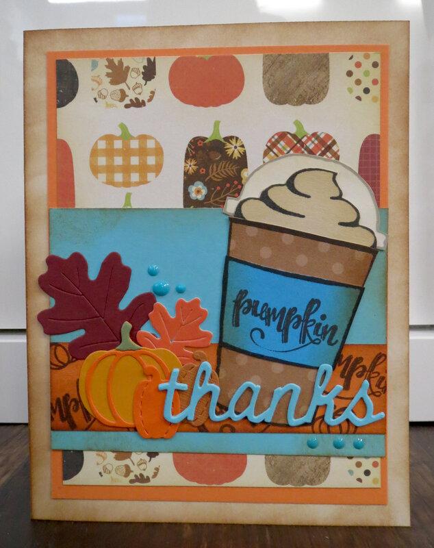 Pumpkin Spice Thanks card
