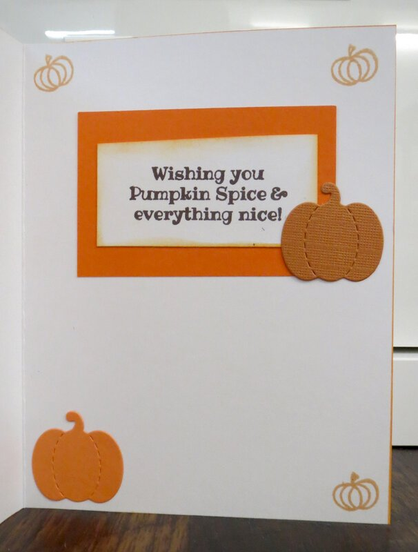 Pumpkin Spice Thanks card - Inside