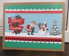Carta Bella Santa Scene Card