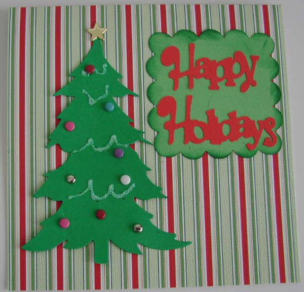 Square Christmas Tree Card