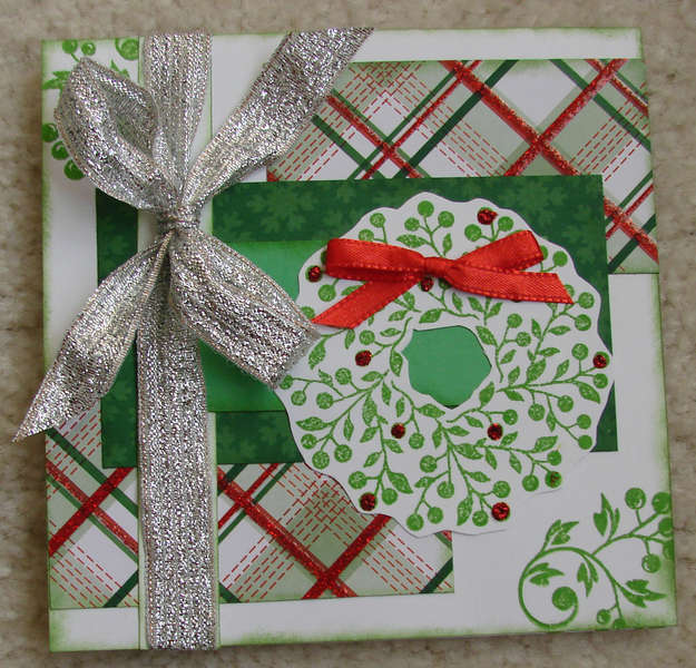 Square Wreath Christmas Card 2011
