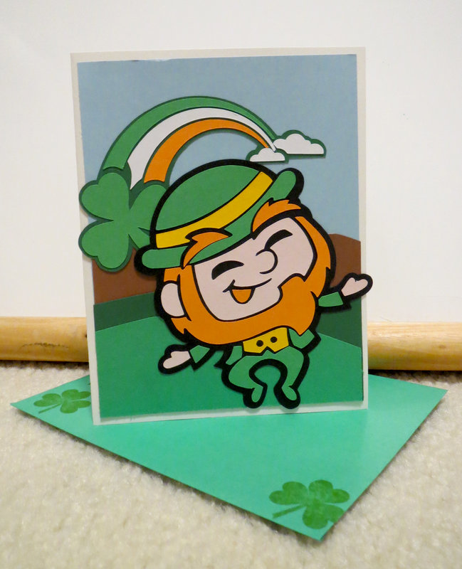 St. Patrick's Day card and envelope