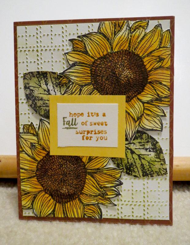 Sunflower Fall card