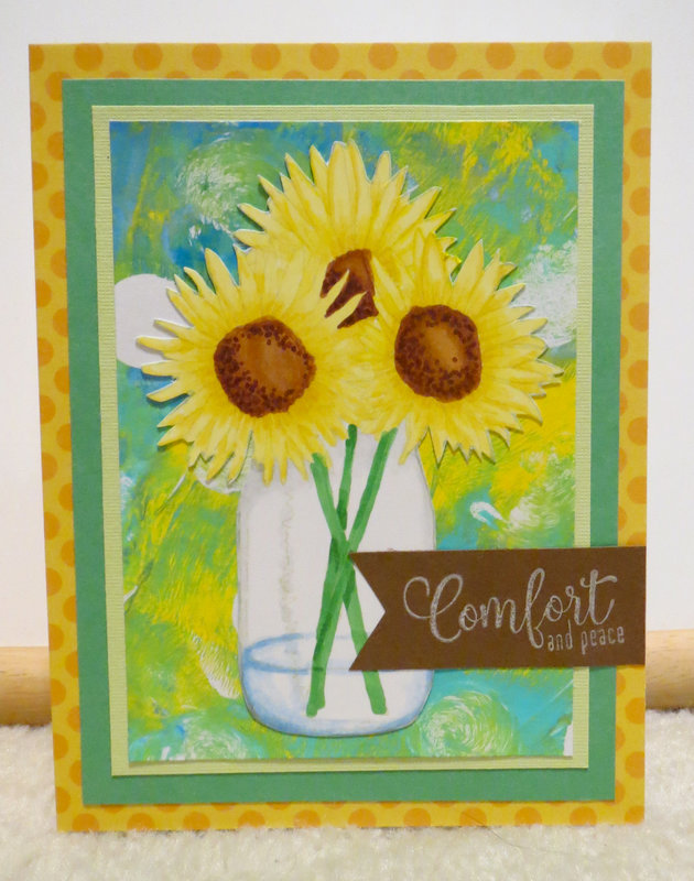 sunflower sympathy card - Michele