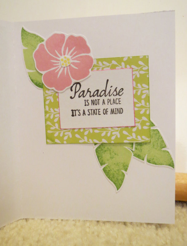 Card for friend inside paradise