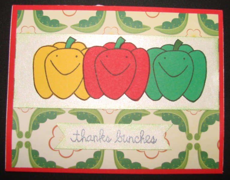 3 Peppers Thanks Bunches card