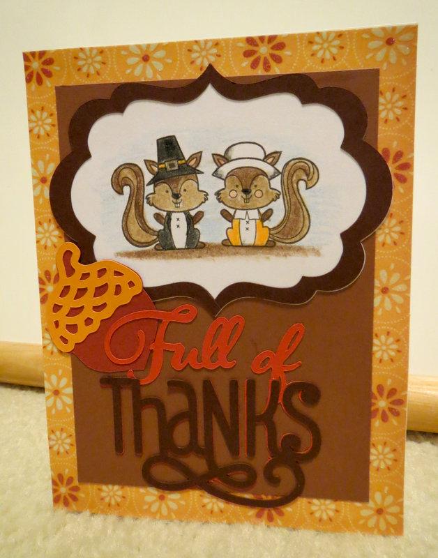 Pilgrim Squirrel Thansgiving Card 3