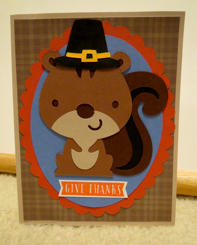 Pilgrim Squirrel Card