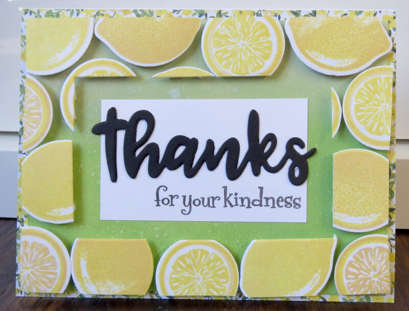 Lemon Thank You Card - With dimension