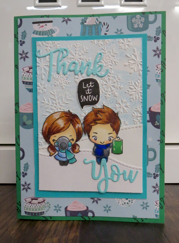 Snowy Thank You Card 1