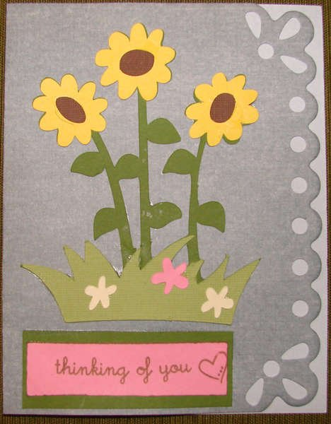 Flower card for Operation Write Home