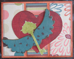 Birthday Card with wings and key