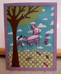 Purple Pinata card
