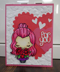 Valentine card - Pink haired Anya