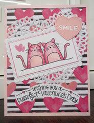 Kitty Heart card