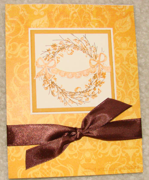 Thank You Card with Wreath