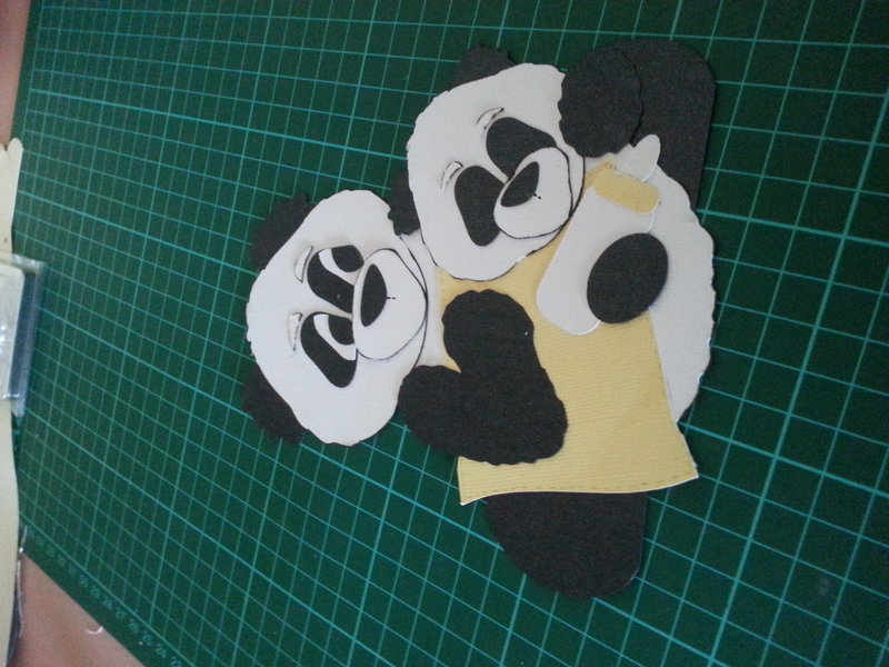 the panda's ready to go on the page
