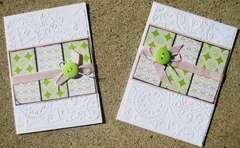 Embossed and blocked any occasion card