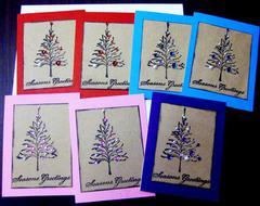 Seasonings Greetings decorated trees