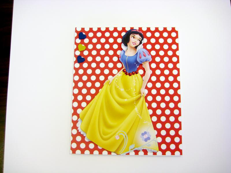 Snow White Happy Birthday card for Isabelle