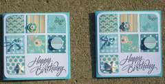 Happy Birthday (aqua pair)