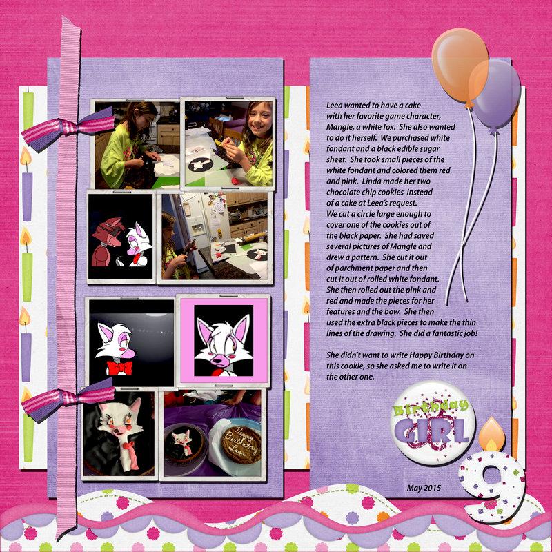 Leea decorates her birthday cake