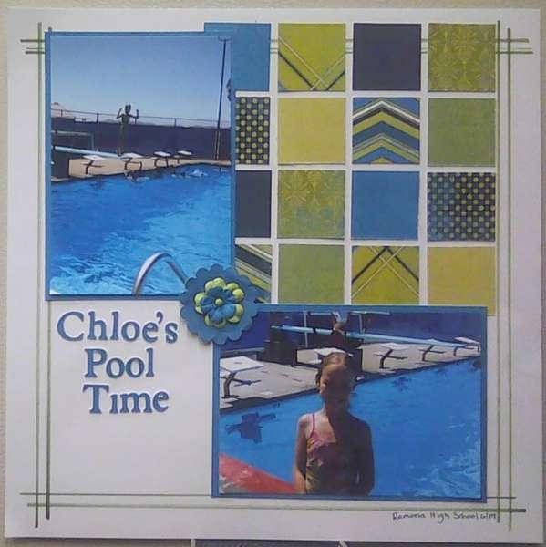 Chloe's Pool Time
