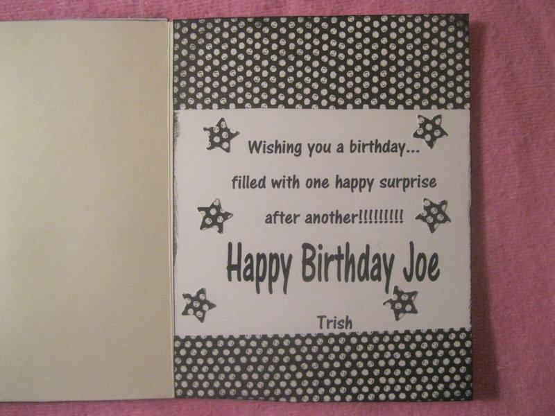Joe's Birthday Card 2