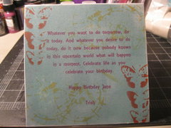 Birthday Card-Jane